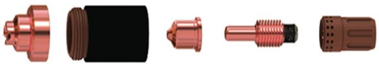 cnc plasma cutter wearing parts