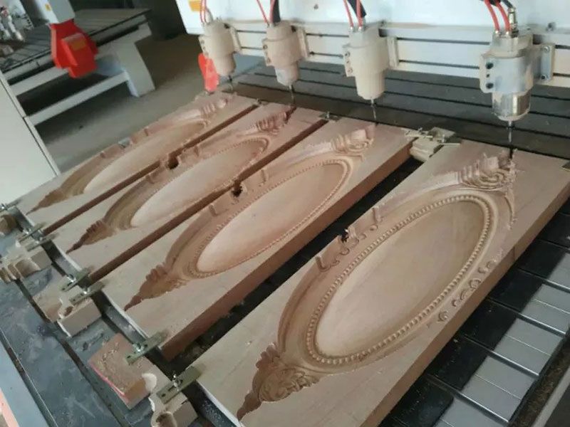 wood 2d flat carving,multi heads wood caring cnc router