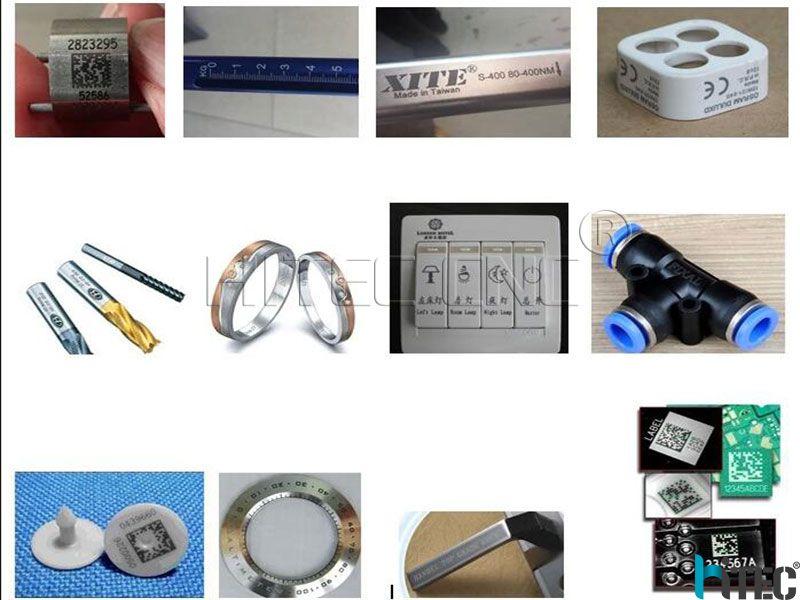 fiber laser marking machine samples