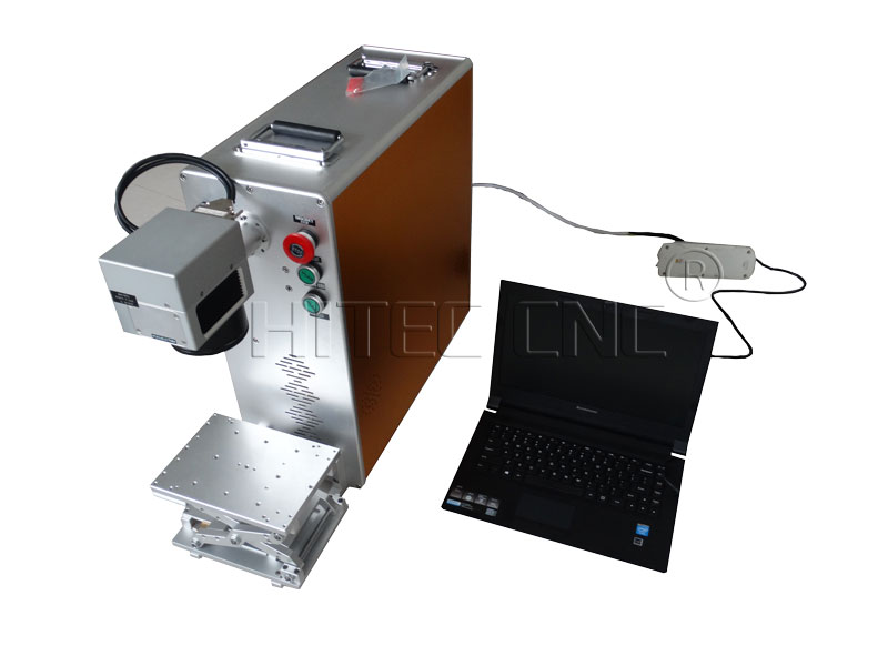 60w mopa fiber laser engraving machine for color metal marking