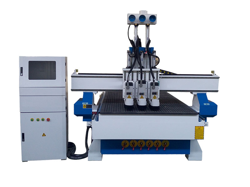 Three heads atc cnc router for cabinet door process
