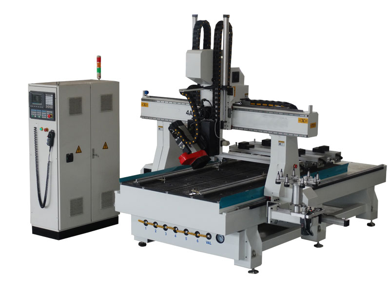 High quality ATC 4 axis cnc router machine with HSD swing spindle