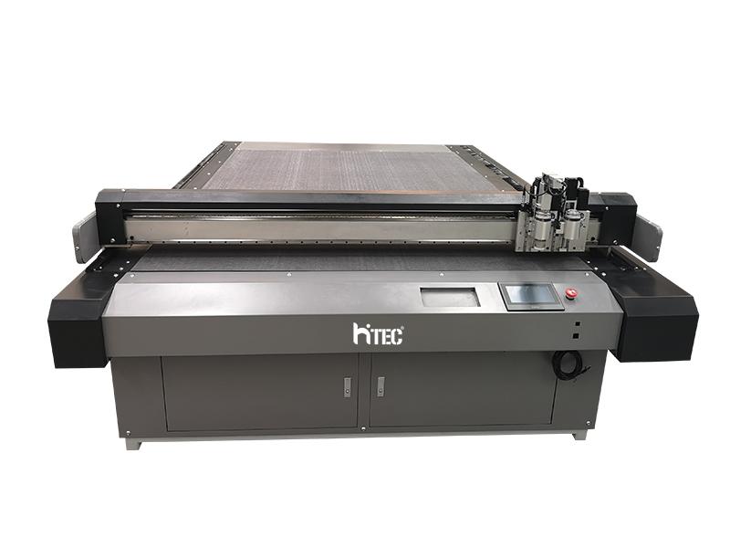 CNC oscillating knife cutting machine for leather/ fabric /cloth/eva foam with automatic feeding device