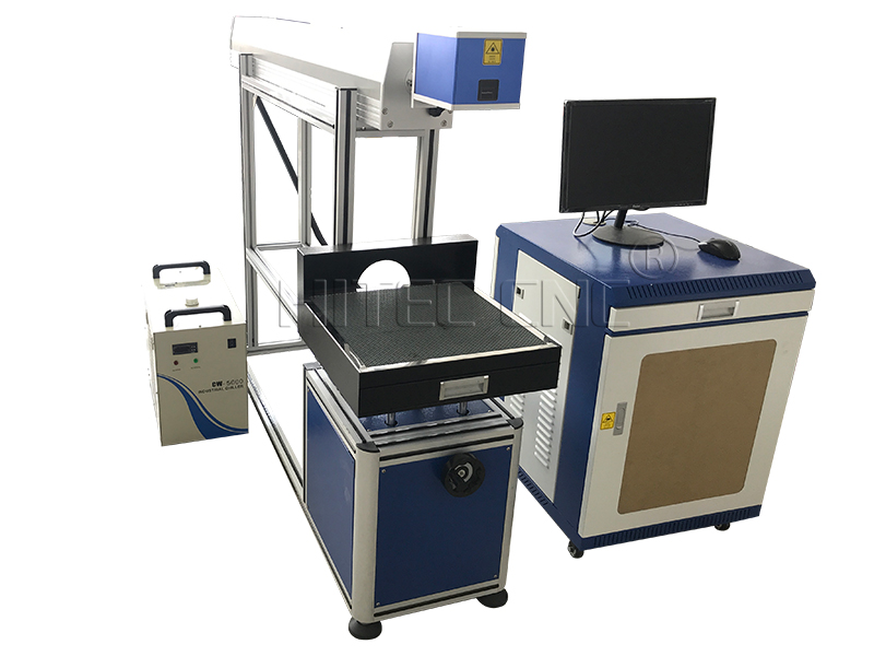 Paper card co2 laser marking cutting machine