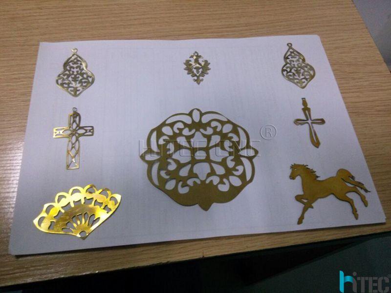 laser marking machine deep engraving on gold sliver