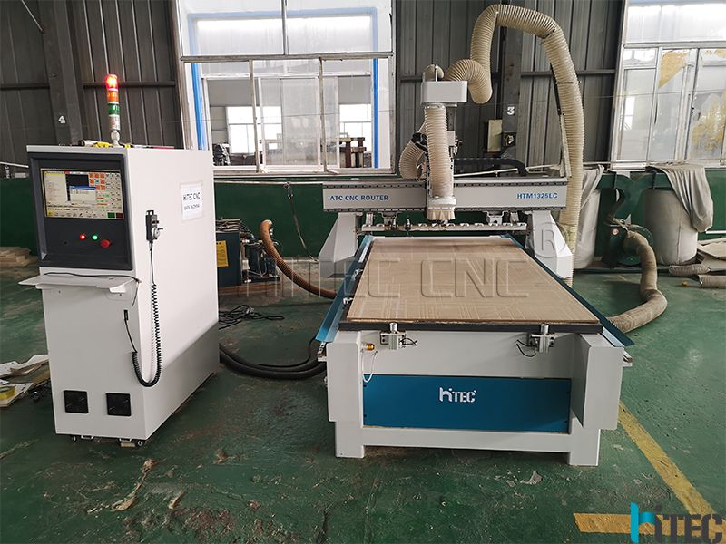 HTM1325LC Linear auto tool changer CNC router for cabinet door making