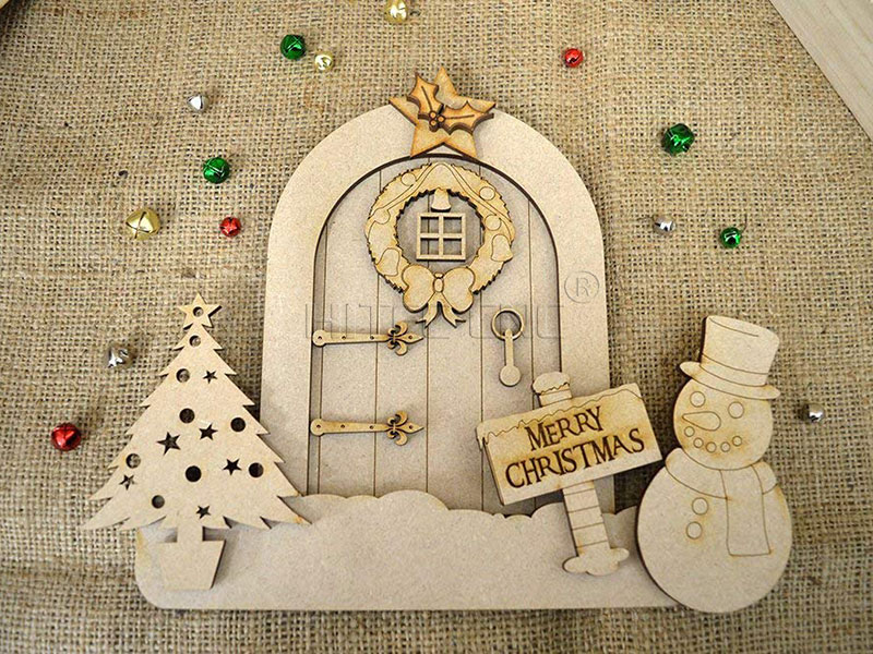 Laser Cut mdf christams crafts