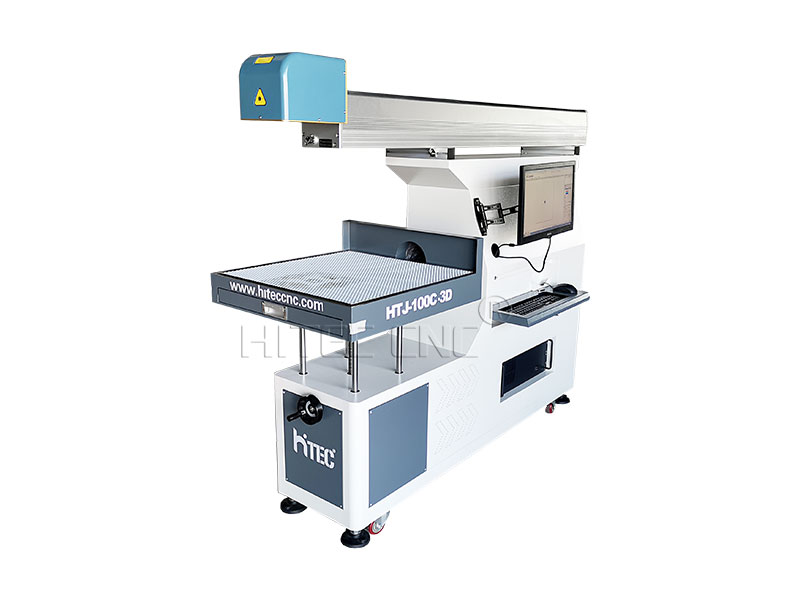 100w 3D dynamic large format co2 laser marking machine for paper card, leathe cutting