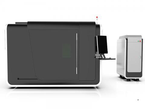HTF3015GA enclosed design cnc metal fiber laser cutter machine for sale with affordable price