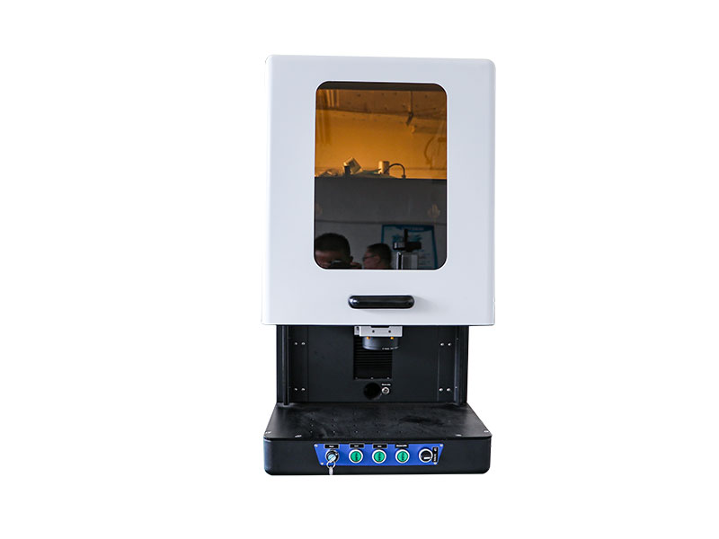 Enclosed fiber laser marking machine for metal engraver
