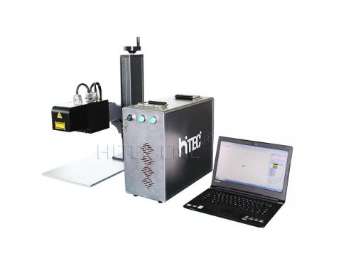JPT 60W Mopa dynamic focus fiber laser marking machine for metal 3D relief engraving