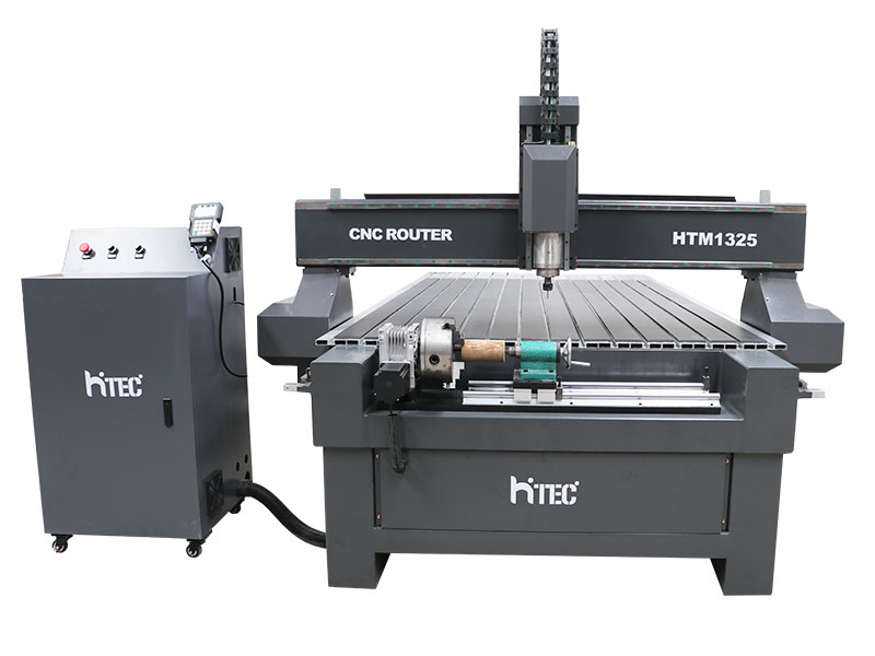 CNC router table machine with 4th rotary axis