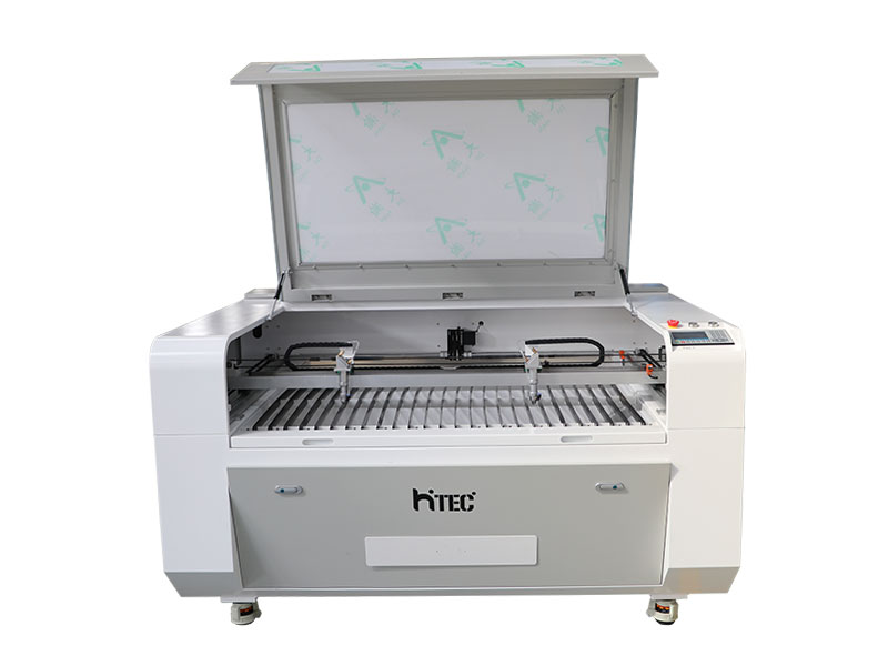 Acrylic wood mdf farbic laser cutting engraving machine double laser heads